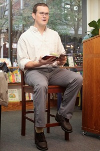 Jeffrey Ricker reading from The Unwanted at Left Bank Books in St. Louis. Photo by Leah Givens.