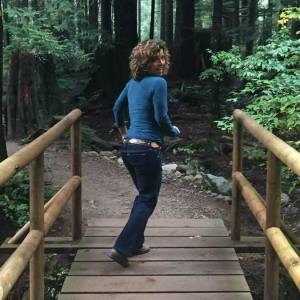 running-in-forest